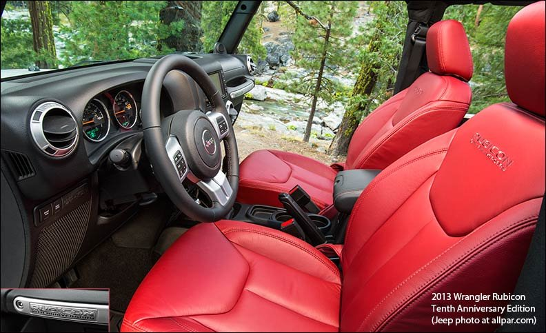2013 jeep wrangler rubicon tenth anniversary edition - Jeep wrangler red interior for sale ...