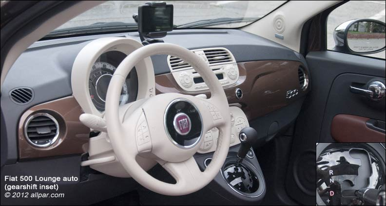 interior with gearshift