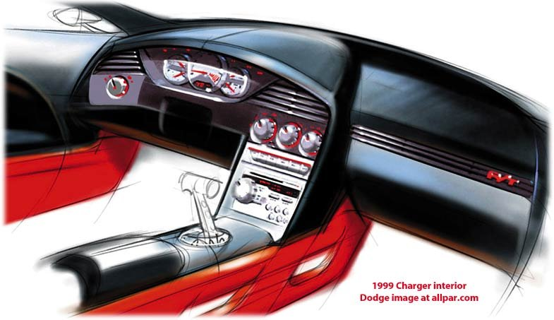 1999 charger concept interior