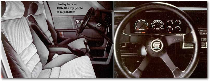 shelby lancer interior