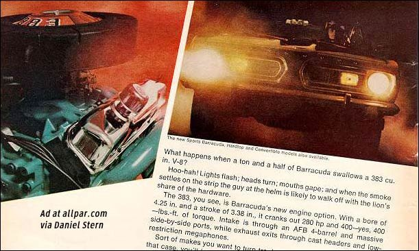 inside the 1969 barracuda