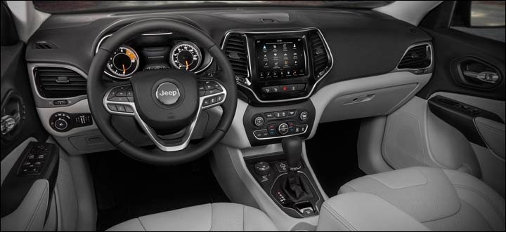 2019 Jeep Cherokee Limited interior