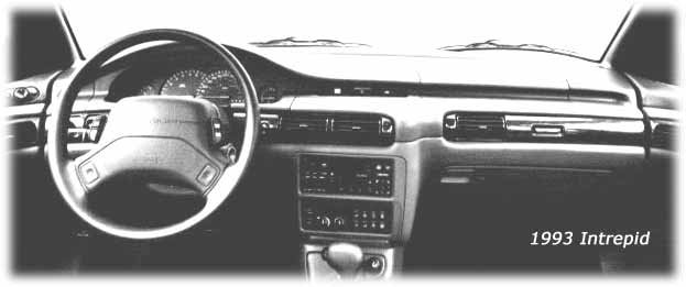 inside the 1993 dodge intrepid
