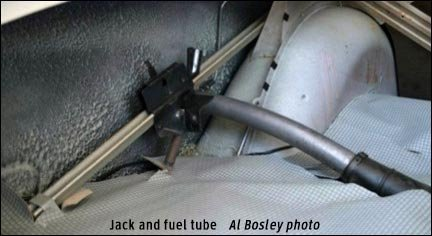 jack and fuel tube