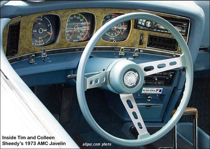 1973 AMC javelin interior