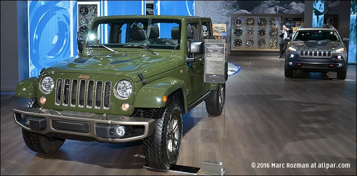 green 75th anniversary Jeep