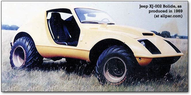 Jeep Bolide XJ-002 concept car