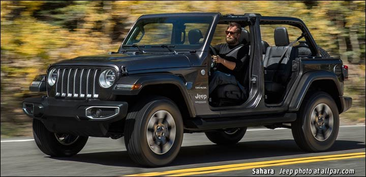 Jeep Wrangler JL drawings