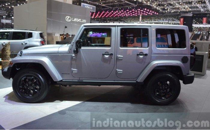 jeep wrnagler black edition ii side