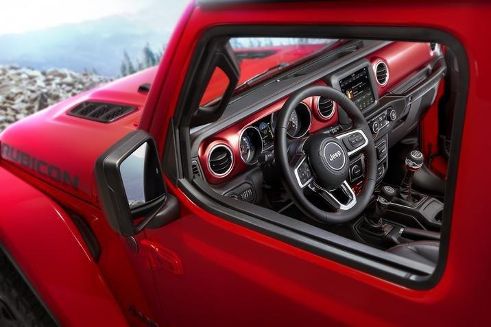 inside the 2018 Jeep Wrangler