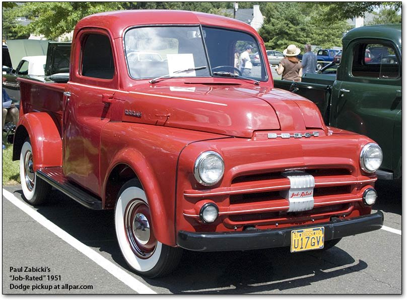 job-rated 1951 Dodge pickup