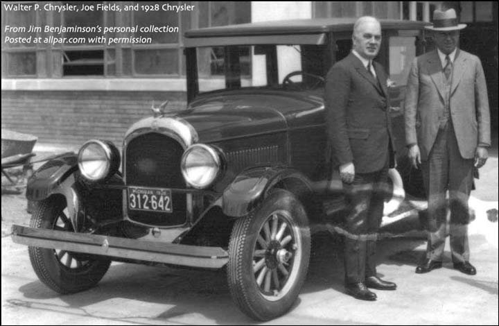 Joe Fields with Walter Chrysler