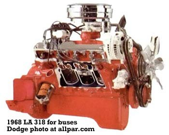 LA - Chrysler small block V8 engines
