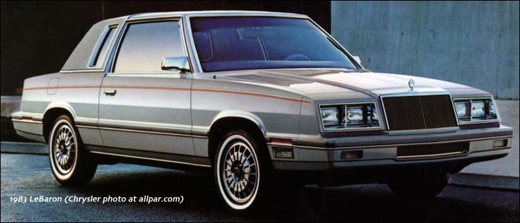 1983 Dodge, Chrysler, Plymouth, AMC, and Jeep cars and trucks