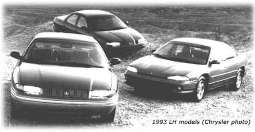 dodge intrepid, chrysler concorde, and eagle vision cars