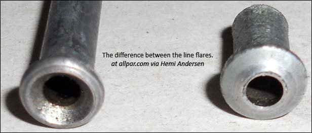 brake line flare differences