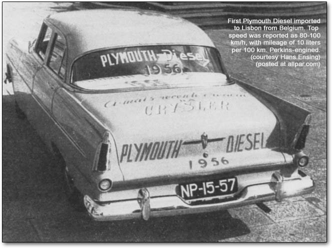 first diesel Plymouth in Lisbon