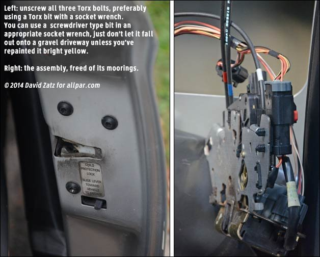 2006 07 Chrysler Dodge Minivan Lock Actuator Replacement