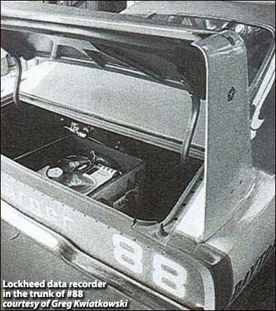 lockheed data recorder in trunk of #88