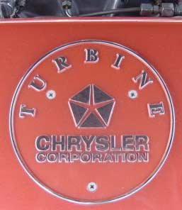 chrysler corporation turbine car plate