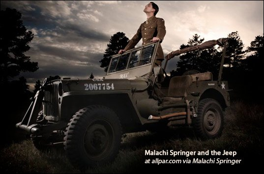 malachi springer and his army jeep