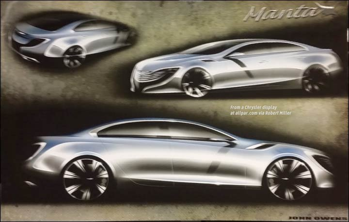 2017 Chrysler Manta concept car: future 300?
