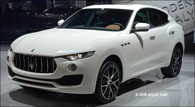 Chrysler Based Maserati Levante Crossover Suv