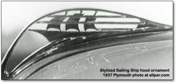 plymouth mayflower hood ornament