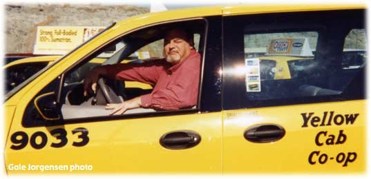 Mike Sealey in his cab