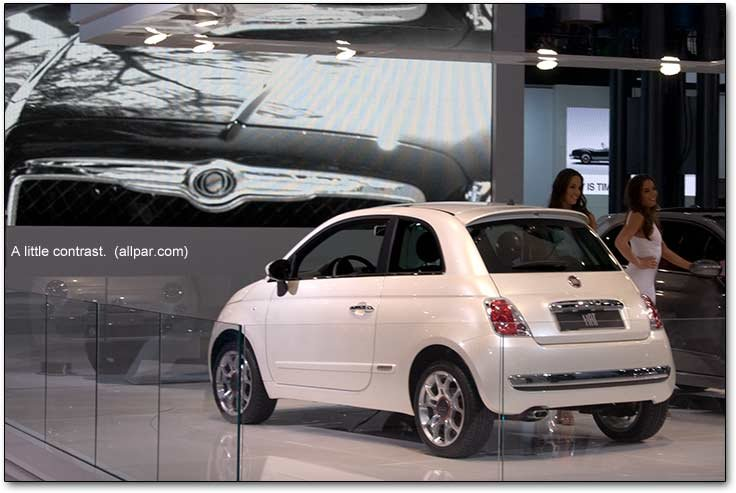 Fiat 500 with Chrysler 300