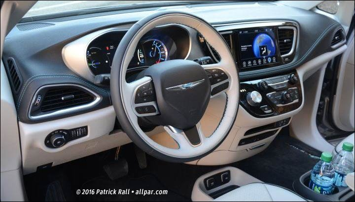 Pacifica Hybrid dashboard