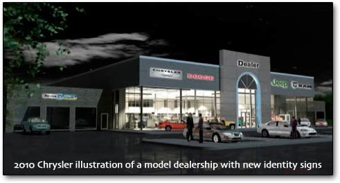 model Chrysler dealership for millenium branding