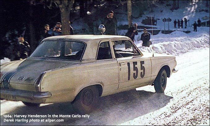 valiants in the 1964 monte carlo rally