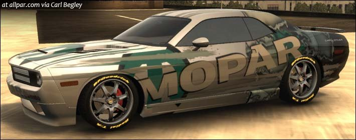 Mopar Dodge Challenger concept in Midnight Club L.A.