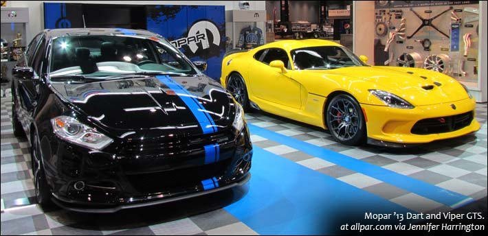Mopar '13 Dart and Viper GTS