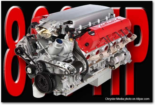 800 horsepower V10