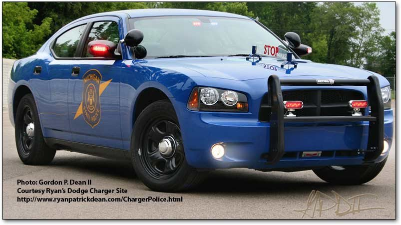 The Dodge Charger police cars