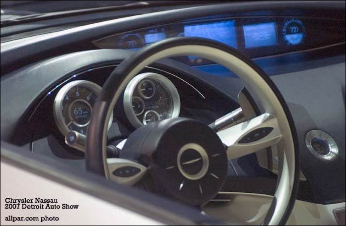 inside the chrysler nassau concept car