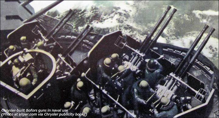 Navy Bofors anti-aircraft guns