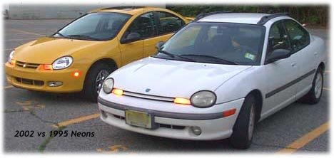 1995 and 2002 Dodge Neon
