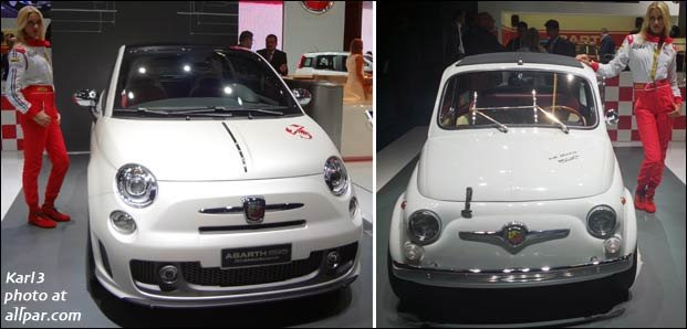 new and old abarths