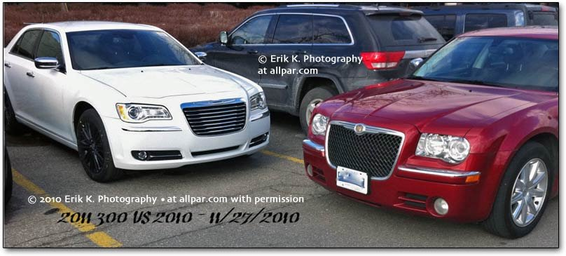 new and old chrysler 300s