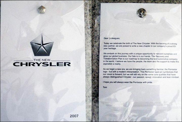 new Chrysler letter
