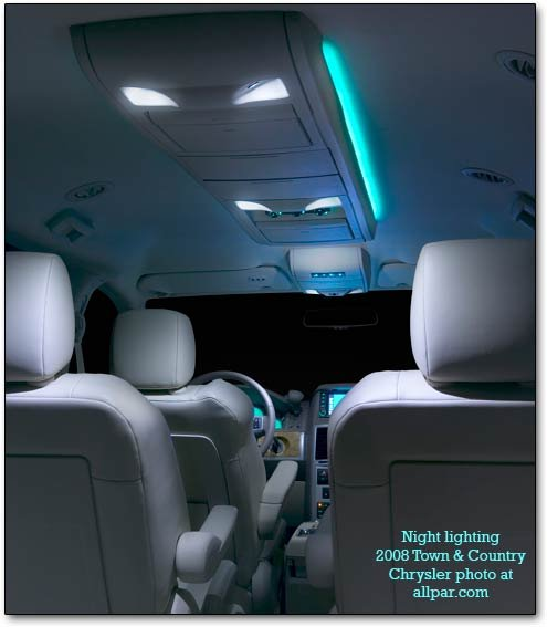2008 chrysler town & country night lighting