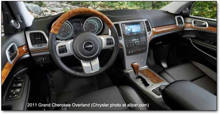 2011 Jeep Grand Cherokee Competitive Comparisons