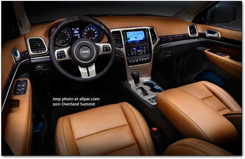 2011 Jeep Grand Cherokee Overland Summit interior