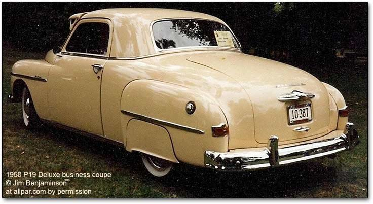 1950 Plymouth P19 cars