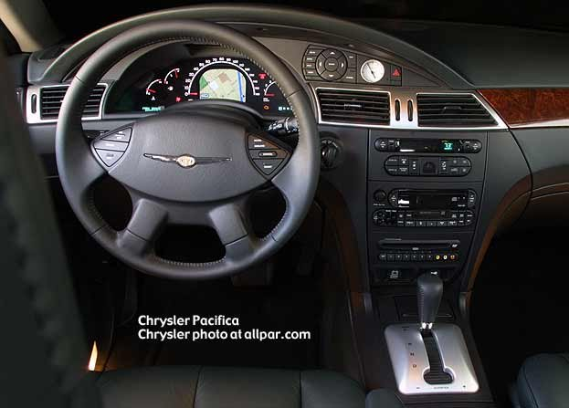 instrument panel of the pacifica