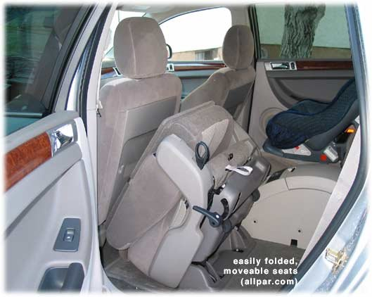 car review Pacifica folding seats