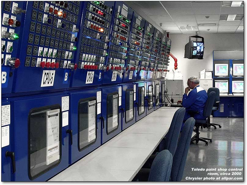 paint shop control room